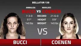Bellator 130: Annalisa Bucci vs. Marloes Coenen
