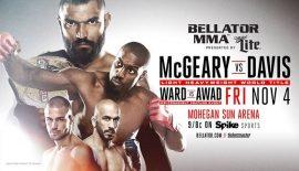 Bellator 163: Liam McGeary vs. Phil Davis il 4 novembre
