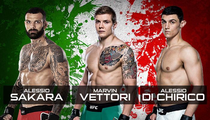 MMA: Marvin Vettori - Alessio Sakara - Alessio Di Chirico