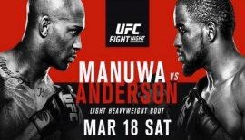 "UFN 107 ""Manuwa vs. Anderson"" domani a Londra"