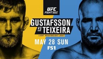 """UFN 109 """"Gustafsson vs. Teixeira"""" domani a Stoccolma"""