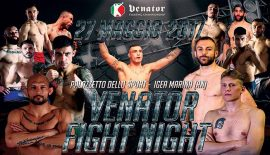 "Venator Fight Night ""Zecchi vs. Musardo"" sabato a Rimini"