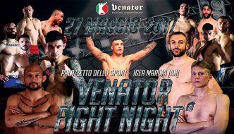 "Venator Fight Night ""Zecchi vs. Musardo"" sabato a Rimini"