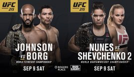 UFC 215: Impostati i due match titolati del 9 settembre!