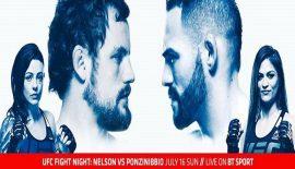 "UFN 113 ""Nelson vs. Ponzinibbio"" domani sera a Glasgow"