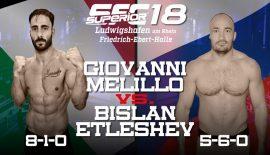 Giovanni Melillo vs. Bislan Etleshev sabato al Superior FC 18