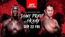 "UFN 117 ""Saint Preux vs. Okami"" stanotte a Saitama"