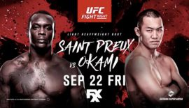 "UFC Fight Night 117 ""Saint Preux vs. Okami"": Risultati rapidi"