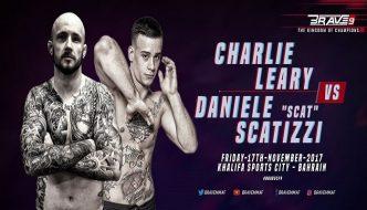 Daniele Scatizzi vs. Charlie Leary domani al Brave CF 9