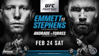 "UFC on FOX 28 ""Emmet vs. Stephens"": Risultati rapidi"