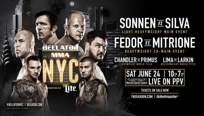Bellator 180: Sabato 24 la card al Madison Square Garden!